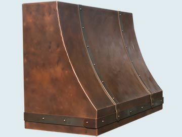 Copper Range Hood # 4903