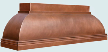 Copper Range Hood # 5043