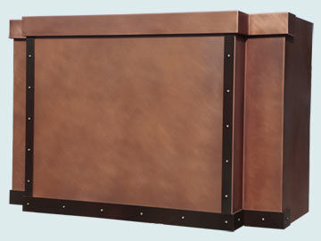 Copper Range Hood # 5199
