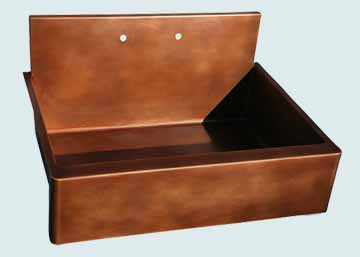 Copper Backsplash Kitchen Sinks # 2831