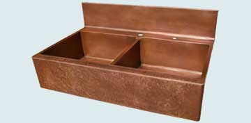 Copper Backsplash Kitchen Sinks # 2920