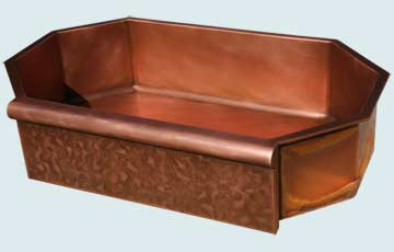 Custom Sinks Copper Special Shape  # 2968