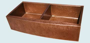 Copper Kitchen Sinks Curved Apron # 3018