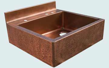 Copper Backsplash Kitchen Sinks # 3401