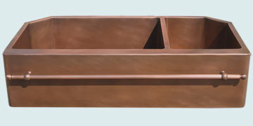 Custom Sinks Copper Special Shape  # 3527