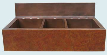 Copper Backsplash Kitchen Sinks # 3632
