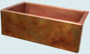 Copper Sinks Old World Patina # 4194