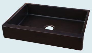 Custom Copper Farmhouse Sinks # 4419