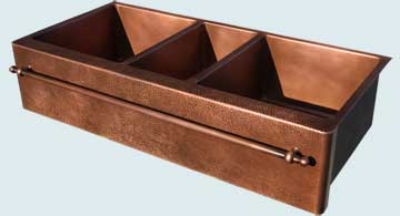 Copper Extra Large Sinks # 4456