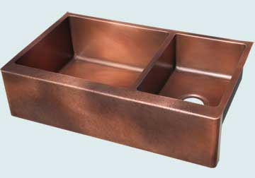 Custom Copper Farmhouse Sinks # 5076