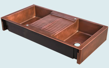 Custom Sinks Copper Special Shape  # 5082