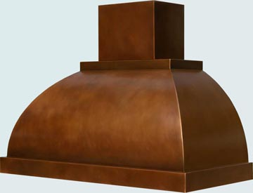 Copper Range Hood # 2445
