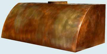 Copper Range Hood # 2423