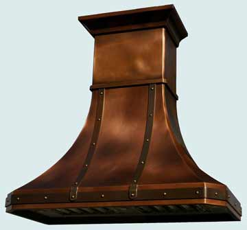 Copper Range Hood # 2447