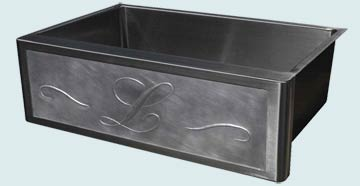 Stainless Steel Repousse Apron Sinks # 3733