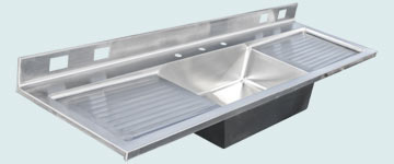 Stainless Steel Extra Large Sinks # 2988