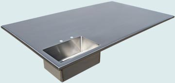 Stainless Steel Countertop # 4186