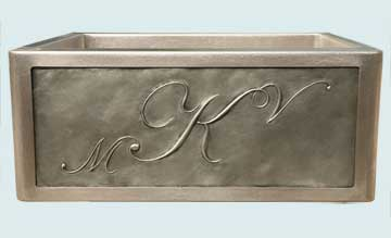 Stainless Steel Repousse Apron Sinks # 2951