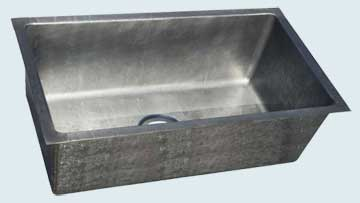 Custom Zinc Kitchen Sinks # 4414