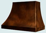 Copper Range Hood Double Sweep