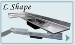 Stainless Steel  Countertops L Shape