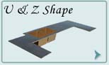 Bronze Countertops U & Z Shape