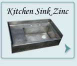 Zinc Custom Kitchen Sinks