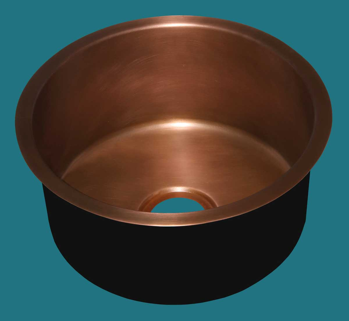 Copper Bar Sink Smooth Drum