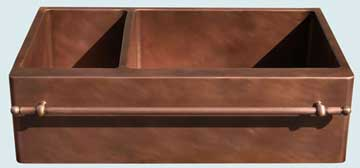 Copper Sinks Towel Bar  # 3665
