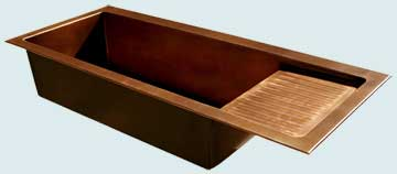 Copper Drainboard Sinks # 3407