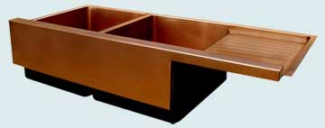 Copper Drainboard Sinks # 3448