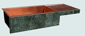Copper Drainboard Sinks # 3504