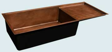 Copper Drainboard Sinks # 3637
