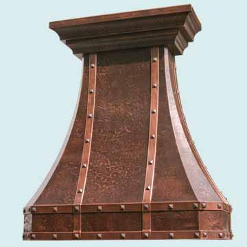 Copper Range Hood # 2451