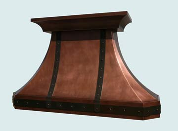Copper Range Hood # 2751