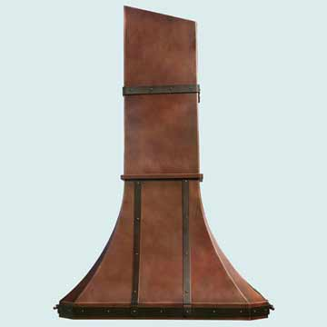 Copper Range Hood # 2764