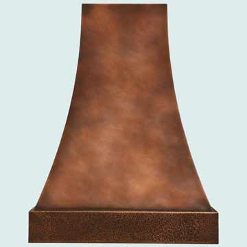 Hammered Copper Vent Hood # 2765