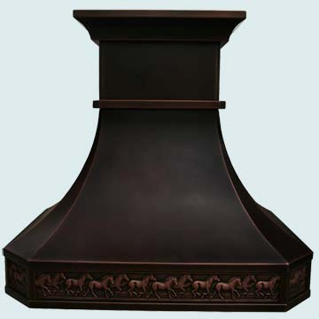 Copper Range Hood # 2788