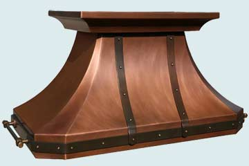 Copper Range Hood # 2798