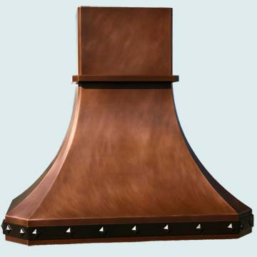 Copper Kitchen Vent Hood # 2955