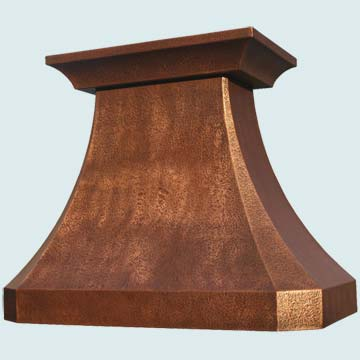 Copper Range Hood # 3153