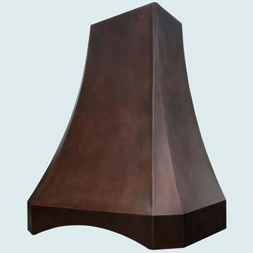 Copper Kitchen Vent Hood # 3177