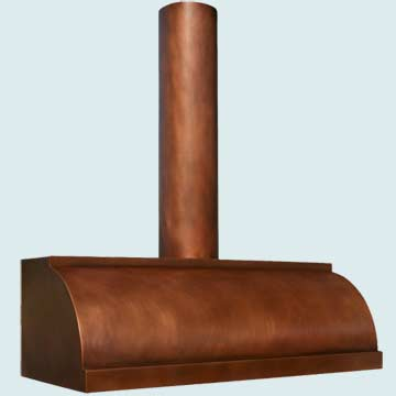 Copper Range Hood # 3195