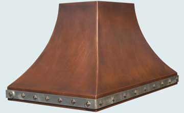 copper kitchen Hood  # 3198