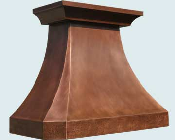 Copper Range Hood # 3229