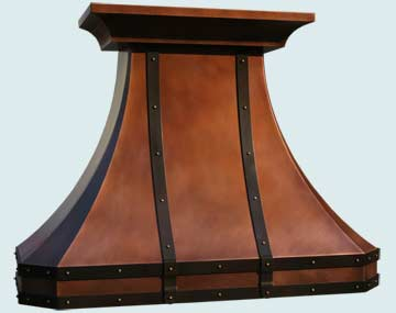 Copper Range Hood # 3238
