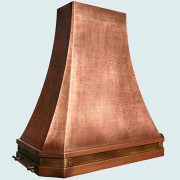 Copper Metal Vent Hood # 3811