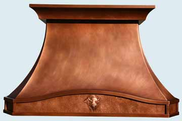 Copper Range Hood # 3821