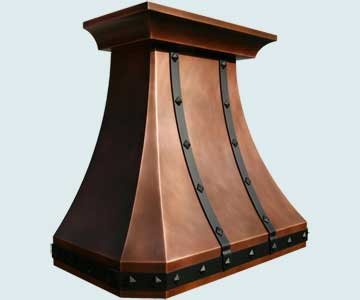 Copper Kitchen Hood # 3850