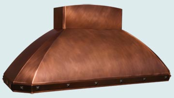 Copper Kitchen Vent Hood # 4209